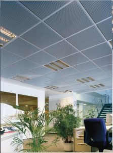 SQUARELINE Ceiling Tiles in an office